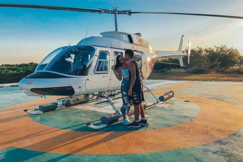 bali, Indonesia | air helicopter tour couple marriage proposal