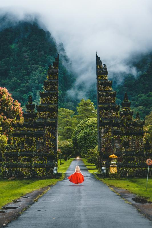 Seminyak, Bali, Indonesia   Woman Red Dress