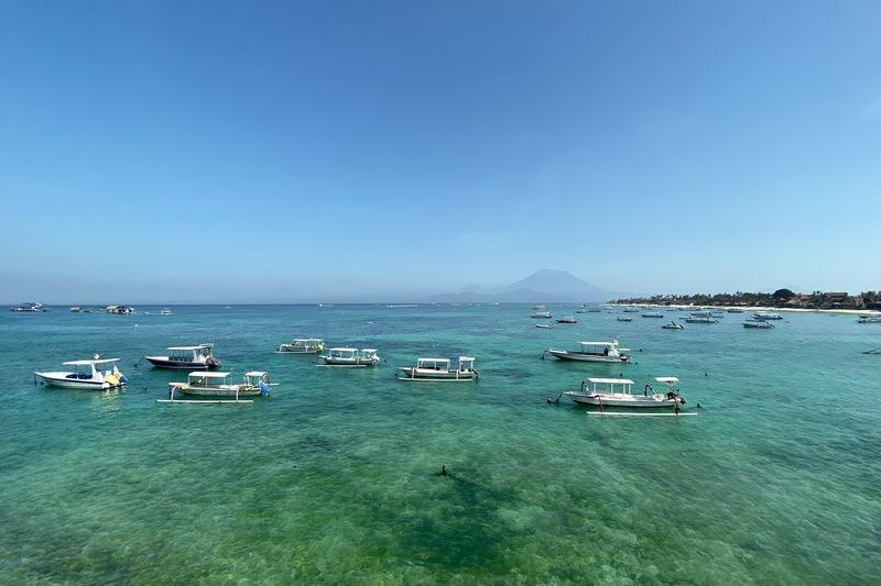 Boats Beach Nusa Lembongan Bali