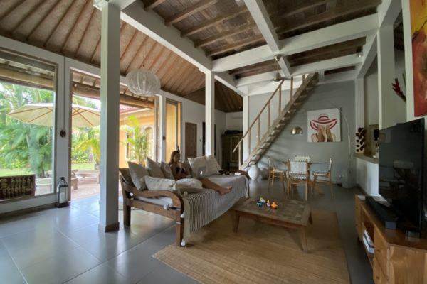 Girl Tatiana Living Room Villa Seminyak Bali