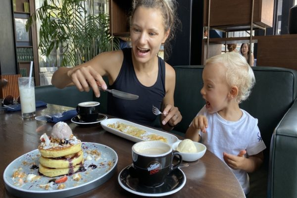 Pancakes Breakfast Family Junction Cafe Seminyak Bali
