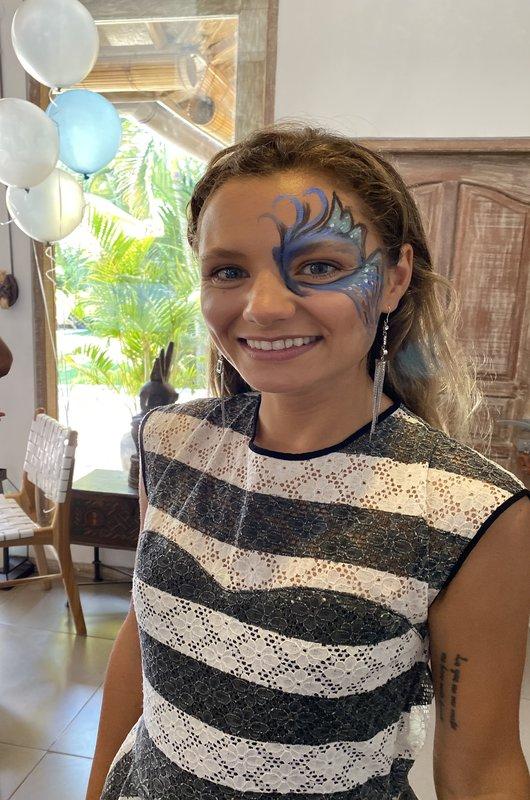 Tatiana Face Painting Birthday Party Villa Seminyak Bali